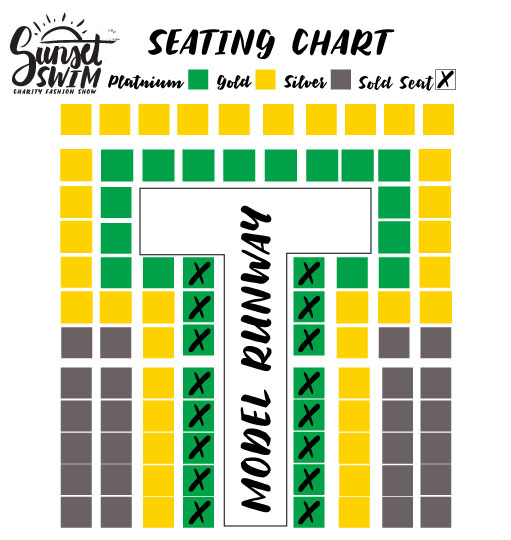 Sunset Swim Seating Chart