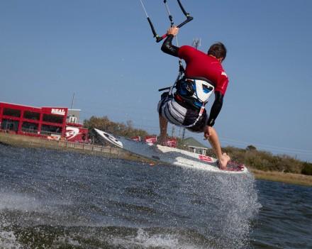 Pete Hardie testing the Lib Tech Waterboards for Kitesurfing