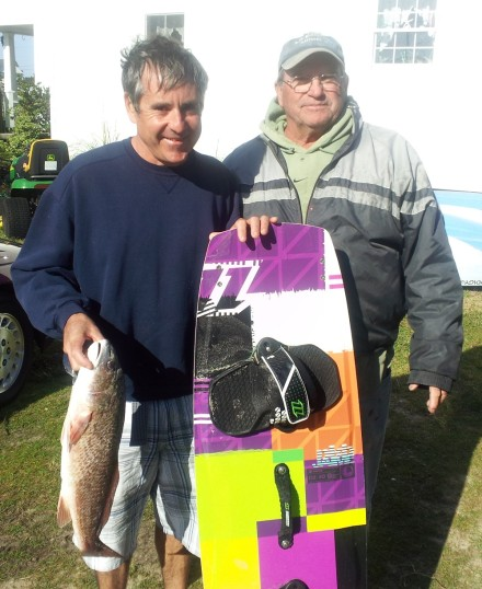 Eddie and Charles with the lost board