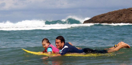 Family Surfing in Puerto Rico