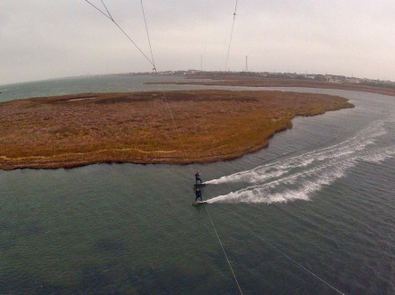 Pete Hardie and Evan Netsch Kiteboarding - Backside Of The Slick