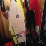 Taj's Winning Board at the Hurley Pro