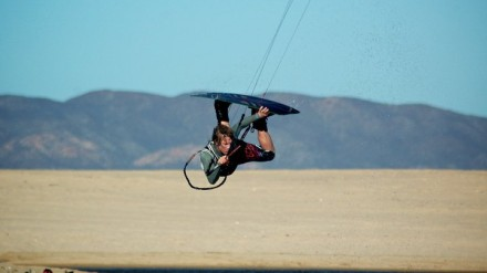 Nate Appel Kiteboarding In Baja
