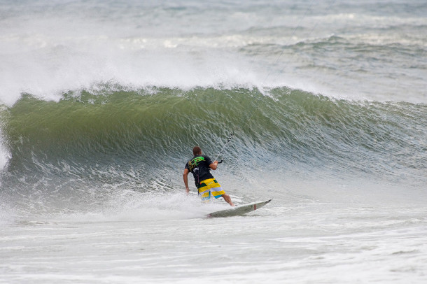 Cape Hatteras in September: REAL Teamrider Jason Slezak finds the perfect combo of wind and waves.
