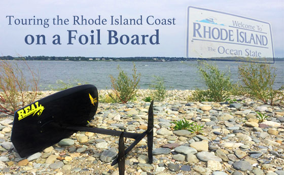 Touring Rhode Island on a Foil Board