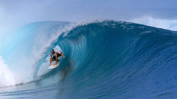 Ralph Dawe surfing the Rock Up in the Mentawai Islands.