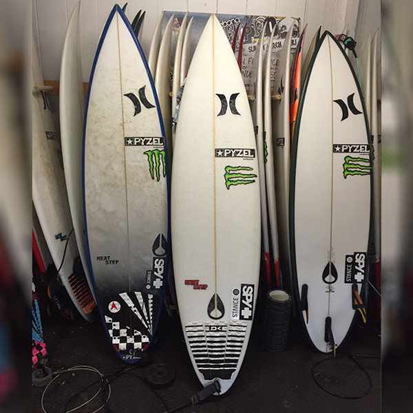 JJF's Magic Sunset Sword: His Pyzel 6'4 next Step