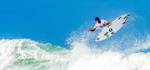 Miguel Pupo riding the Jordy Honeycombs for a balanced approach to his progressive surfing style.