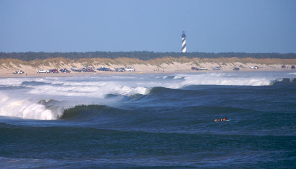 Cape Hatteras is home to the most consistent surf on the East Coast.