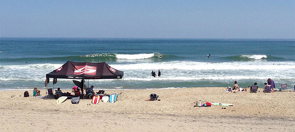 Uncrowded beaches, uncrowded waves- what more do you need? A typical summer day on Cape Hatteras.