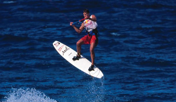 Flash Austin, a true kiteboarding legend | Photo from Red Bull