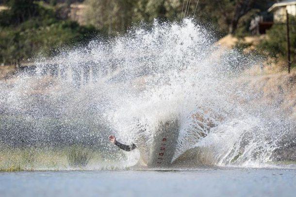 REAL teamrider Brandon Scheid throwing massive spray | Photo by Vincent Bergeron