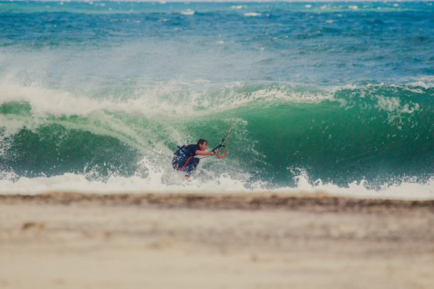 REAL teamrider Jason Slezak driving through the barrel | Photo by Jason Hudson Keller