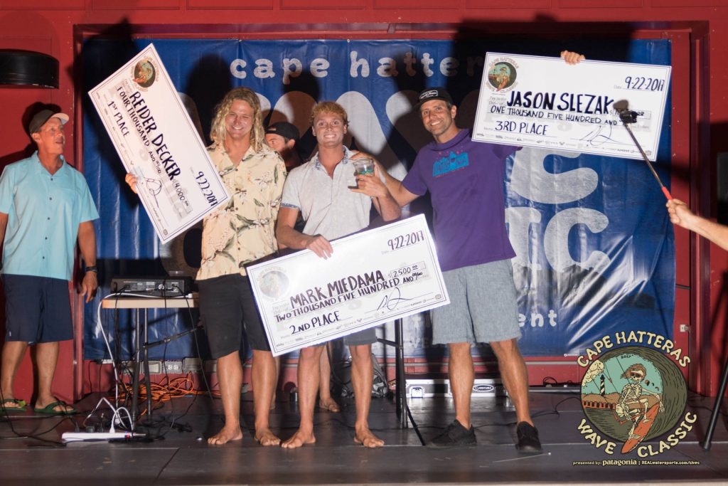 1st place: Reider Decker 2nd place: Mark Miedama 3rd place: Jason Slezak | photo by Ryan Osmond